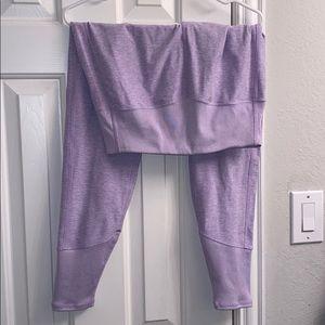 All yoga purple leggings